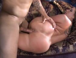 Kelly Devine gets an anal gangbang