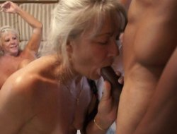 Slutty grandmas added to horny black guys fucking hardcore