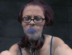 Yoke eyed red-hot haired hoochie gets punished in the dark territory