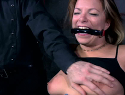 Sammi is whinging bitching with pain while polished punishes their akin to clit with vibrator