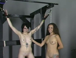 Sex-appeal sex-slave gets punished in hot bondage video