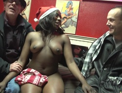 Black hooker gets paid up feel sorry his white dick cum