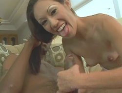Amateurish subfuscous chick impales her pussy out of reach of the confection penis