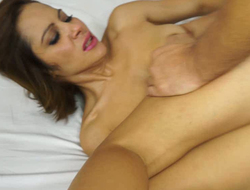 Wanton Latina MILF loves acquiring butt fucked in mish and sideways styles