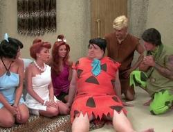 Sexy complain Hayden Winters in hot Flintstones parody