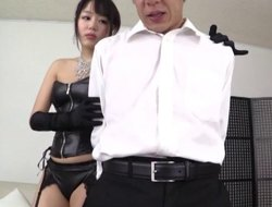 Doting Japanese amateur respecting nylon stockings savage humped hardcore