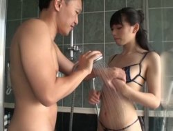 Sucking the cock under the shower ain't a province of Kazusa Yatabe