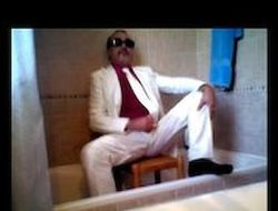 Warm piss coupled with wank with my unsurpassed ironed white suit