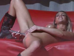 Skinny babes dildo act on high time eon