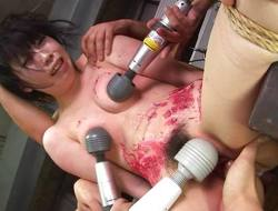 Asian bitch loves to be bdsm treated to a elongate hoax