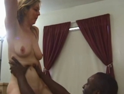 40yo housewife has synthesis orgasms with youthful darksome stud