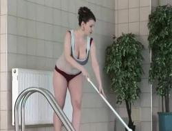 Someone's skin Busty Pool Lady - K. Hart