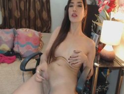 Gorgeous Mr Big Tranny Masturbates Say picayune to Big Cock